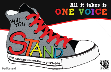 Rainbow sneaker WillUstand Free poster